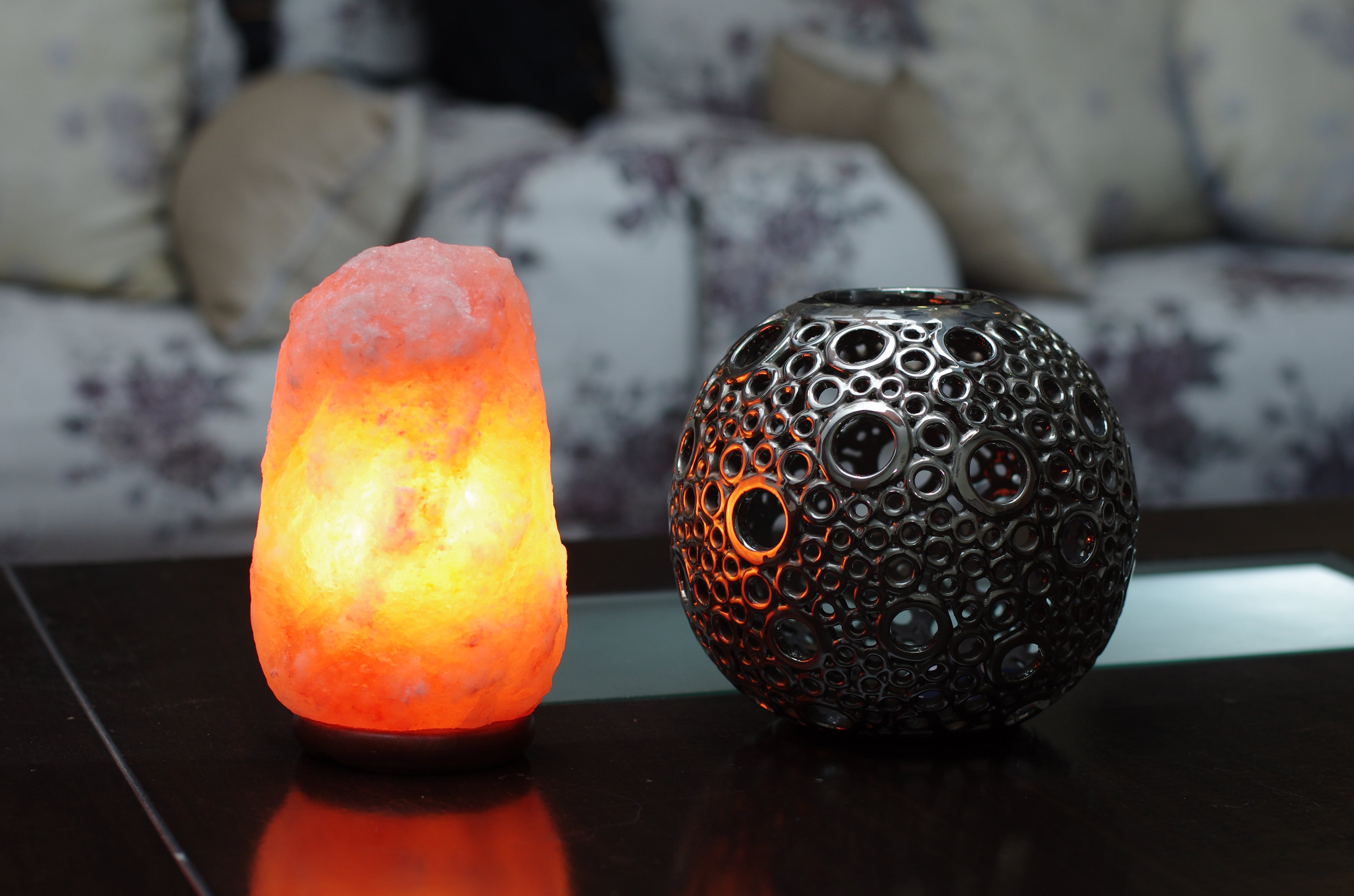 salt lamp leaking water