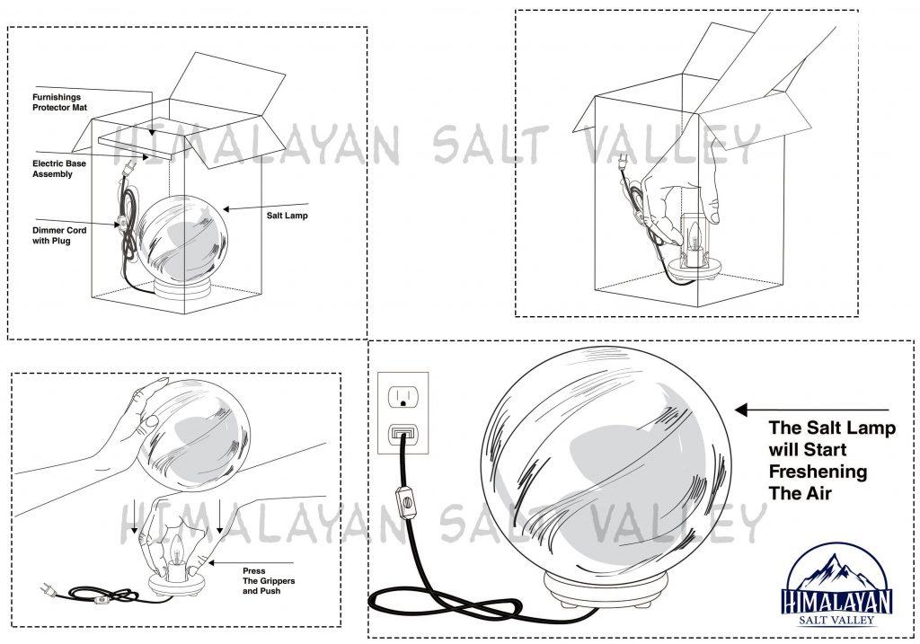 Himalayan salt lamp care instructions